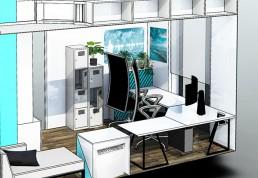 3D-tekening-interieur-thuiswerkplek-vooraanzicht